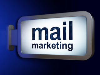 Advertising concept: Mail Marketing on billboard background
