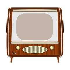 Retro wooden tv.