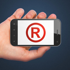 Law concept: Registered on smartphone