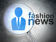 News concept: Business Man and Fashion News with optical glass