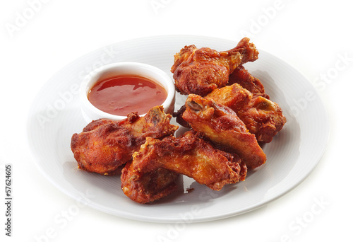 Leinwanddruck Bild Buffalo chicken wings