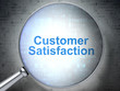 Advertising concept: Customer Satisfaction with optical glass