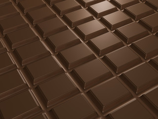 texture of chocolate bar. 3d render