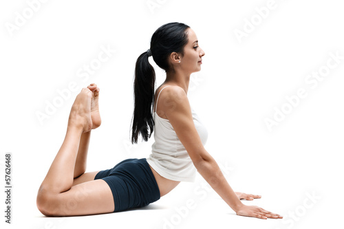 woman in bhudzingasana yoga position