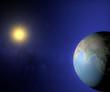 Mondo terra sole globo India Asia