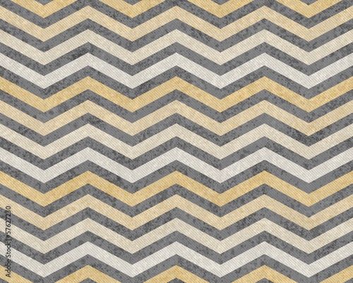 Yellow and Gray Zigzag Textured Fabric Background