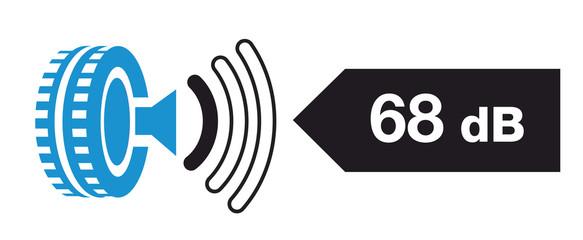 étiquette pneu : bruit