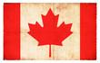Grunge-Flagge Kanada