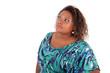 African American woman looking up - Black people