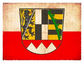 Grunge-Flagge Oberfranken (Bayern, Deutschland)