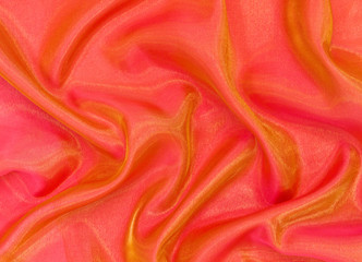background drape orange organza