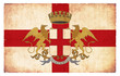 Grunge-Flagge Genua (Italien)