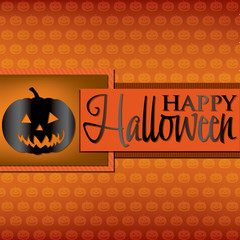 Pumpkin Halloween card in vector format.