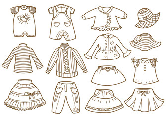 collection of children's clothing (coloring book)