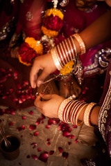 Hindu wedding ritual in india