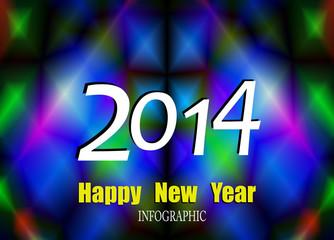 Creative Happy New Year 2014 celebration background,Vector
