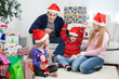 Playful Family With Christmas Gifts