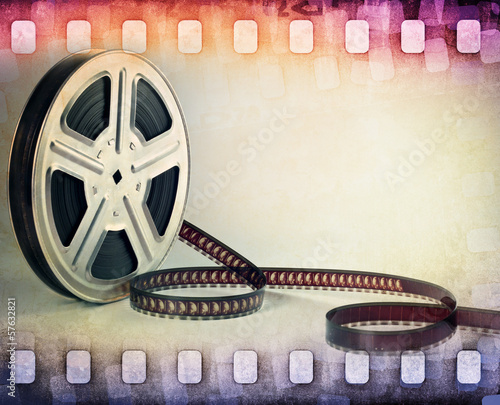 colorful film strip, film reel background