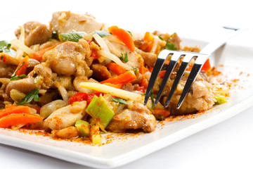 Asian food - chicken with vegetables