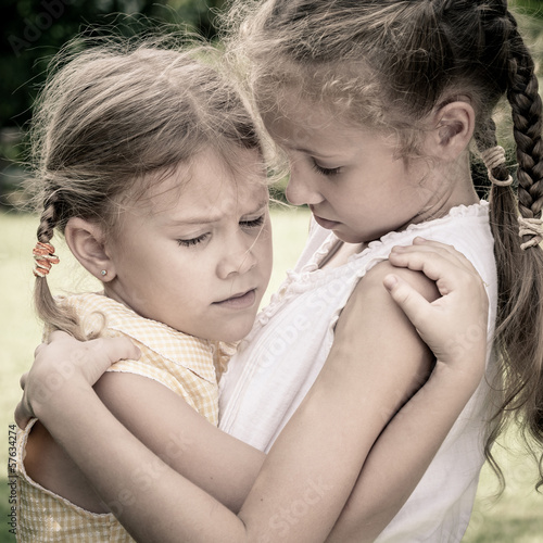 two little sad girls