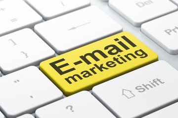 Marketing concept: E-mail Marketing on computer keyboard