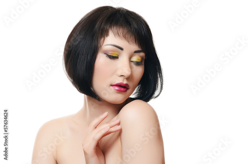 Portrait of woman with professional make-up
