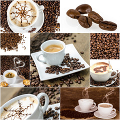 Kaffee-Genuss: Collage