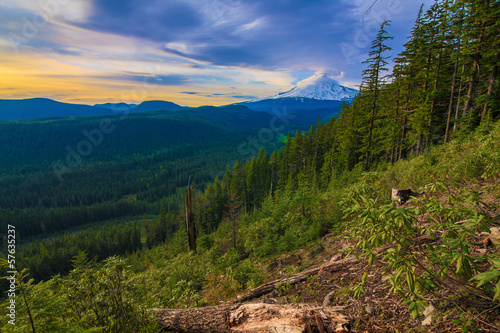 Beautiful Vista of Mount Hood in Oregon, USA.
