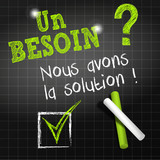 chalkboard : questions we can help you (in french)
