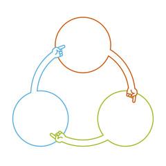 指差しフレーム円形のフローチャート