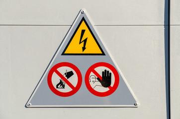 High Voltage Electricity Danger Sign Warning