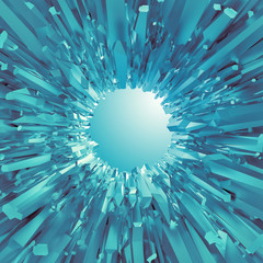 3d abstract futuristic ice crystal background
