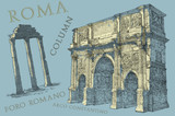Roma view illustration