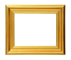 Golden photo frame clipping path.