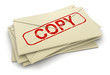 copy letters (clipping path included)