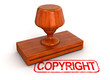 Rubber Stamp copyright (clipping path included)