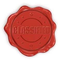 Wax Stamp Classified (clipping path included)