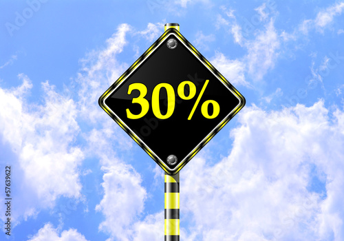 30 PERCENT ROAD SIGN