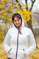 Attractive woman in autumn fashion