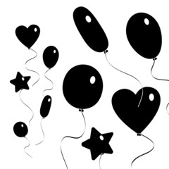 Luftballons - Black Megaset