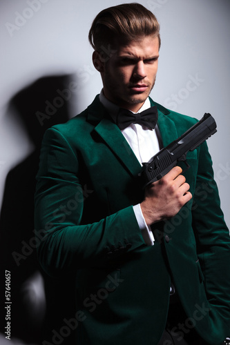 young man James Bond asassin type