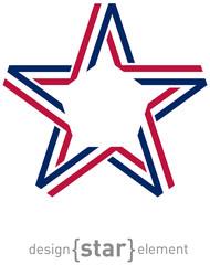 USA star from ribbon