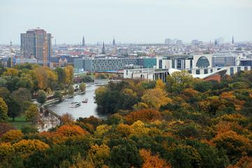 Tiergarten und Bundeskanzleramt aus der Vogelperspektive