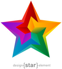 abstract Impossible colorful star design element