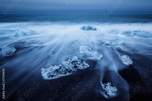 Islande, Jokulsarlon. Icebergs