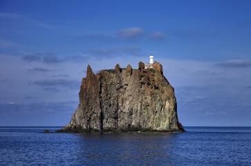 Italy, Sicily, Aeolian Islands, Strombolicchio Rock