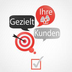 bulles rouge gris : gezielt ihre kunden (allemand)