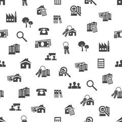 real estate seamless pattern