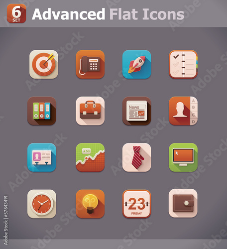 Vector flat business icons