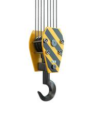 Crane hook. 3d